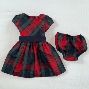 Ralph Lauren Tartan Plaid Taffeta Dress 18 months